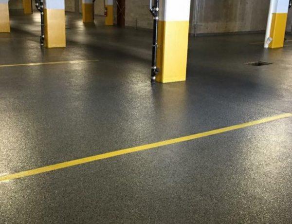 Réparation et surfaçage de plancher de stationnement